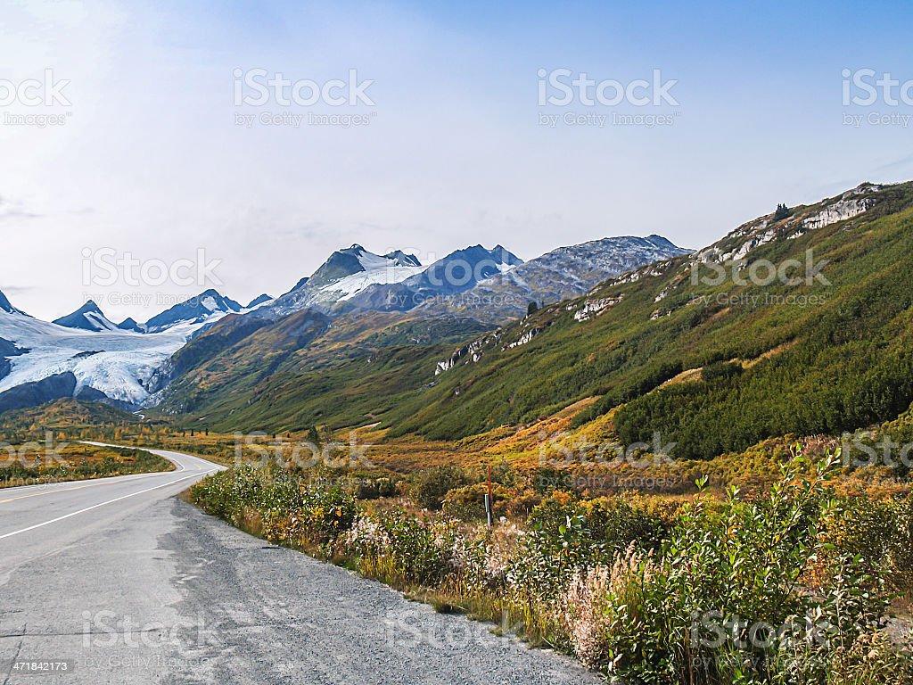 alaska mountain in autumn royalty-free stock photo
