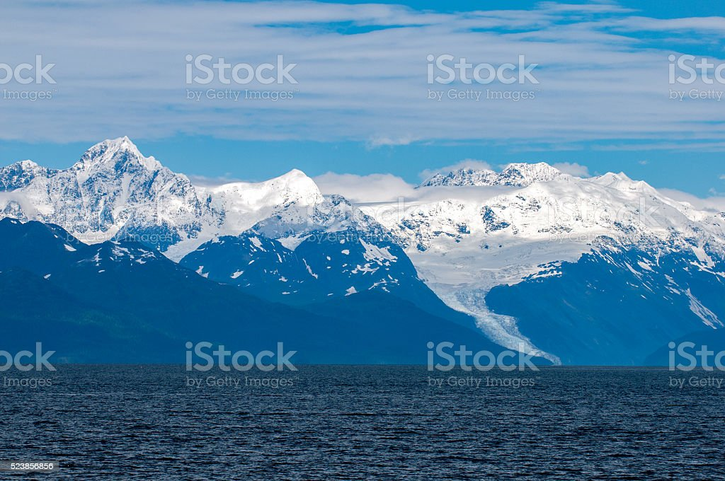 Alaska Prince William Sound landscape stock photo