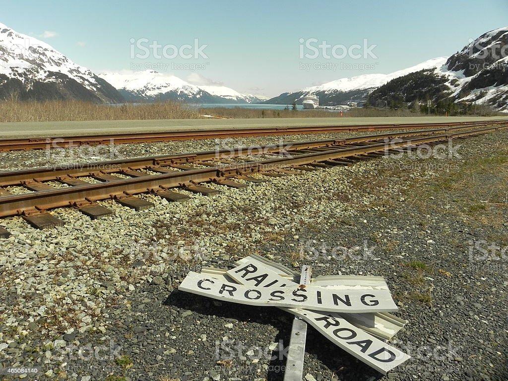 alaska railroad stock photo