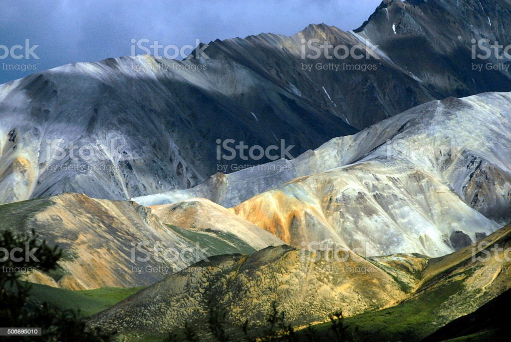 Alaska range, Denali National Park stock photo