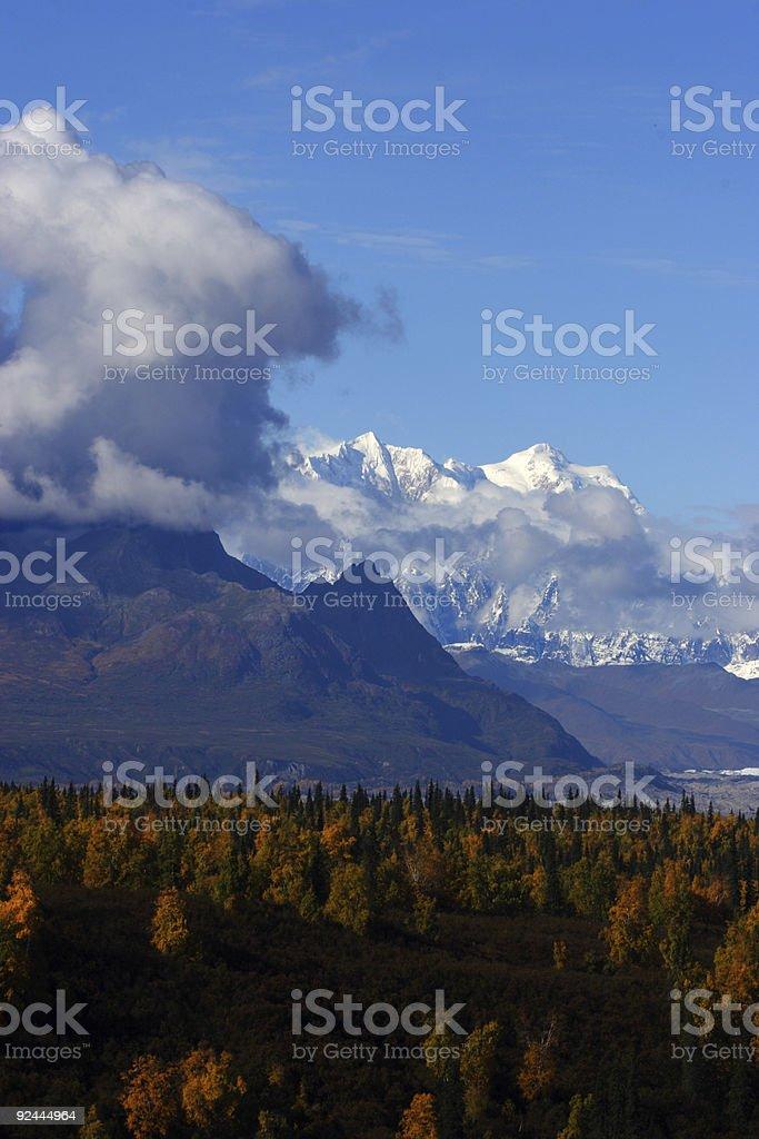 Alaska range in cloudy fall day royalty-free stock photo
