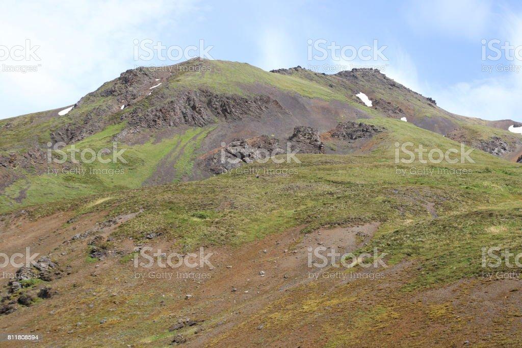 Alaska Range in the Sun stock photo