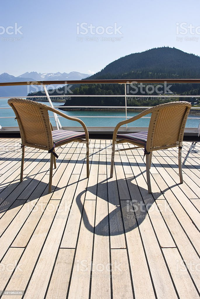 Alaska - Relaxing On The Deck stock photo