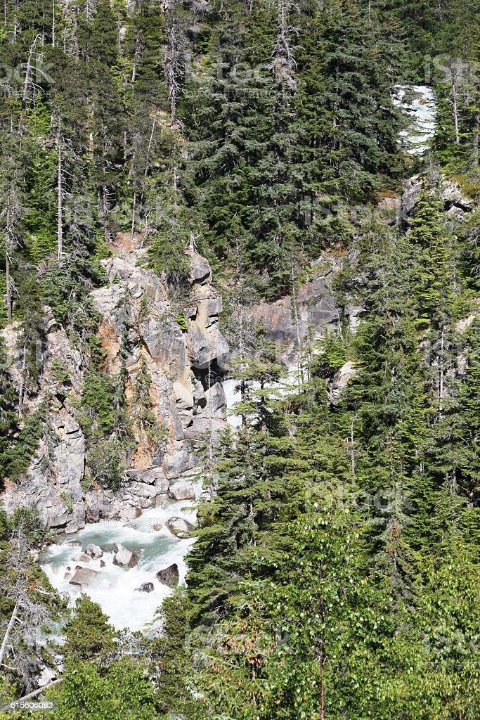 Alaska Skagway Whirlpool Canyon Falls aka Washing Machine stock photo