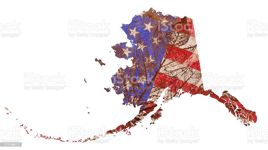 Alaska State Map Flag Pattern royalty-free stock photo