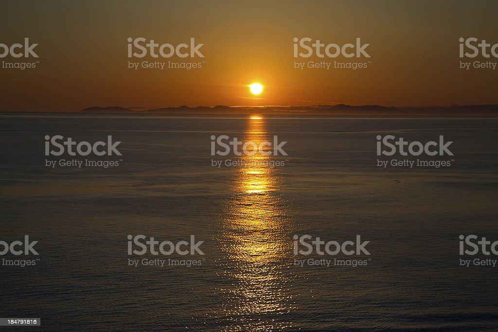 Alaska Sunset royalty-free stock photo