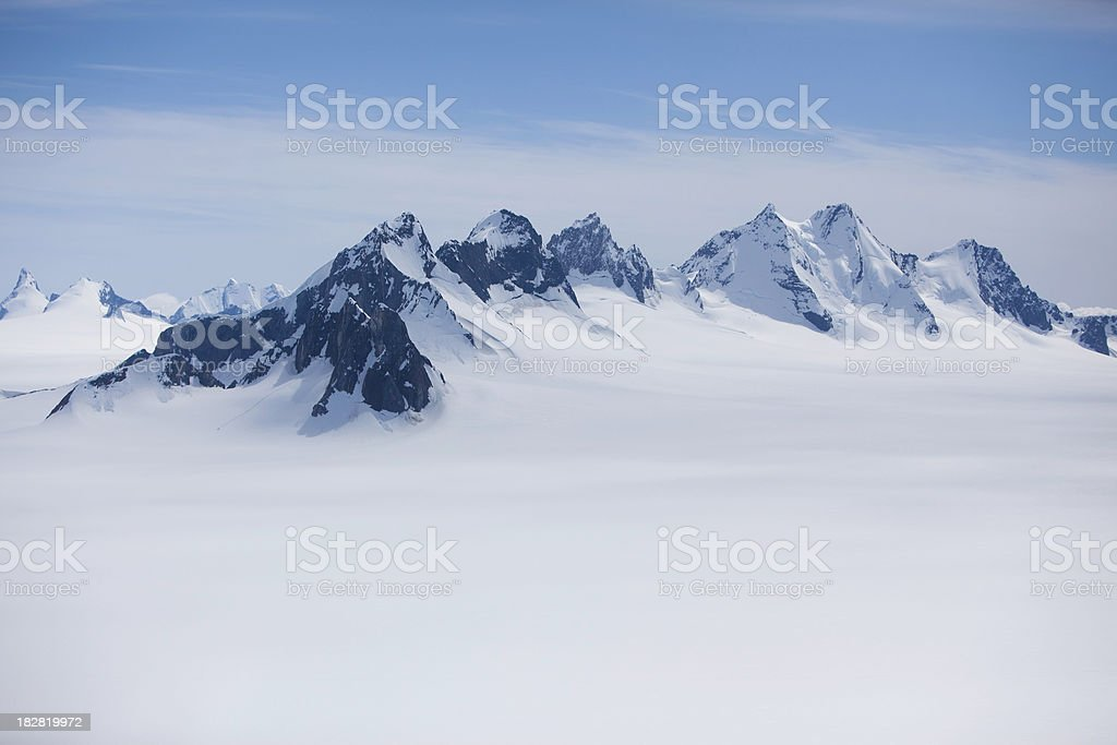 Alaska Top of  the Juneau Ice Field - from Helicopter royalty-free stock photo