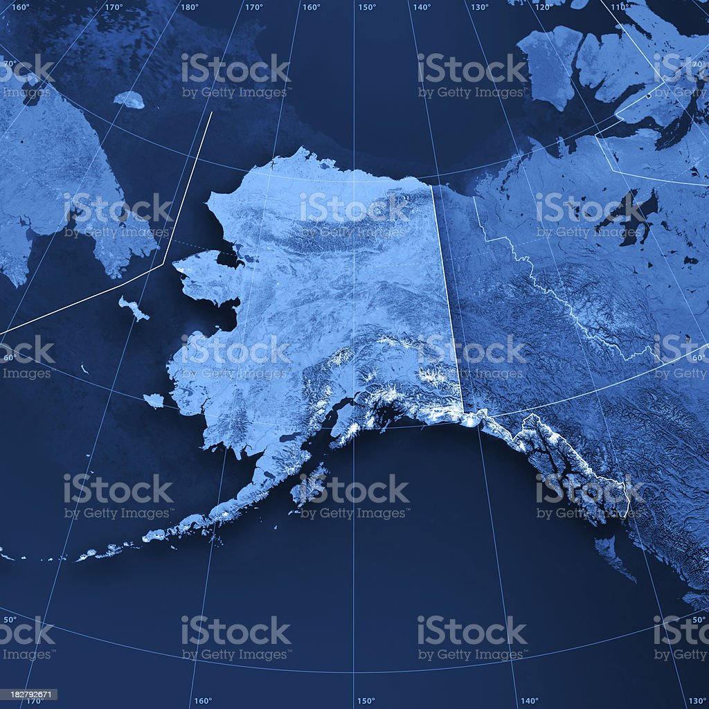 Alaska Topographic Map stock photo