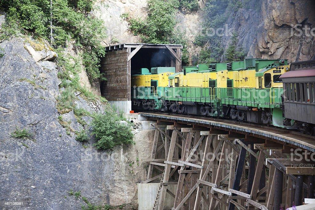 Alaska White Pass Train stock photo
