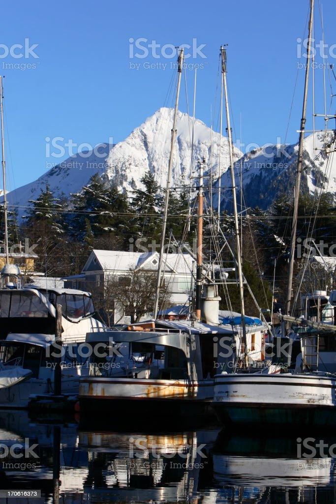 Alaskan Boats royalty-free stock photo