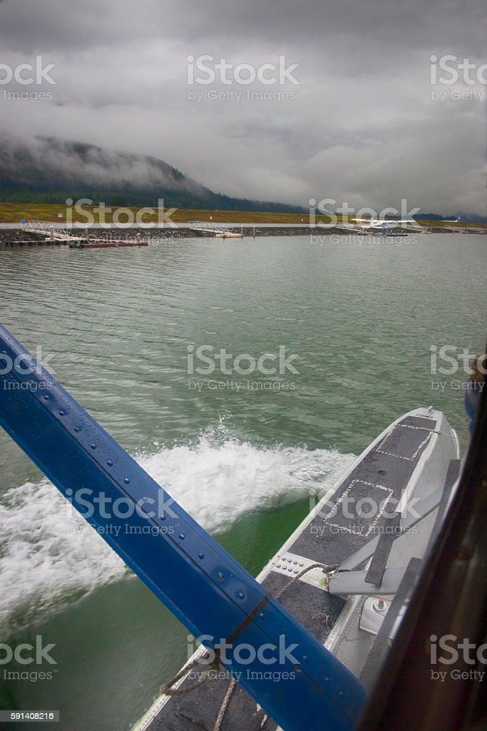 Alaskan bush plane stock photo