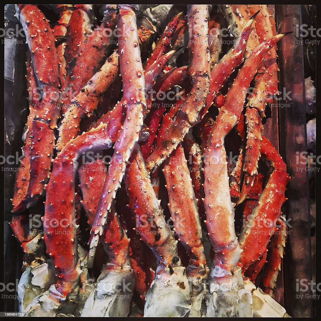 Alaskan Crab Leg stock photo