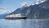 Alaskan ferry in summer