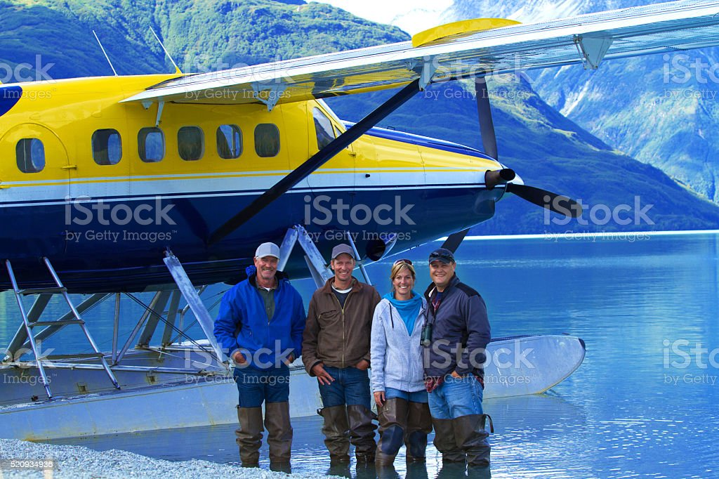 Alaskan Fly out stock photo