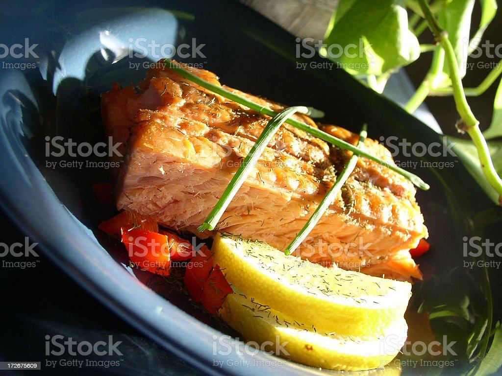 Alaskan Grilled Salmon (Part 7) royalty-free stock photo