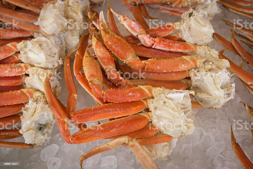 Alaskan King Crab Legs on Ice stock photo