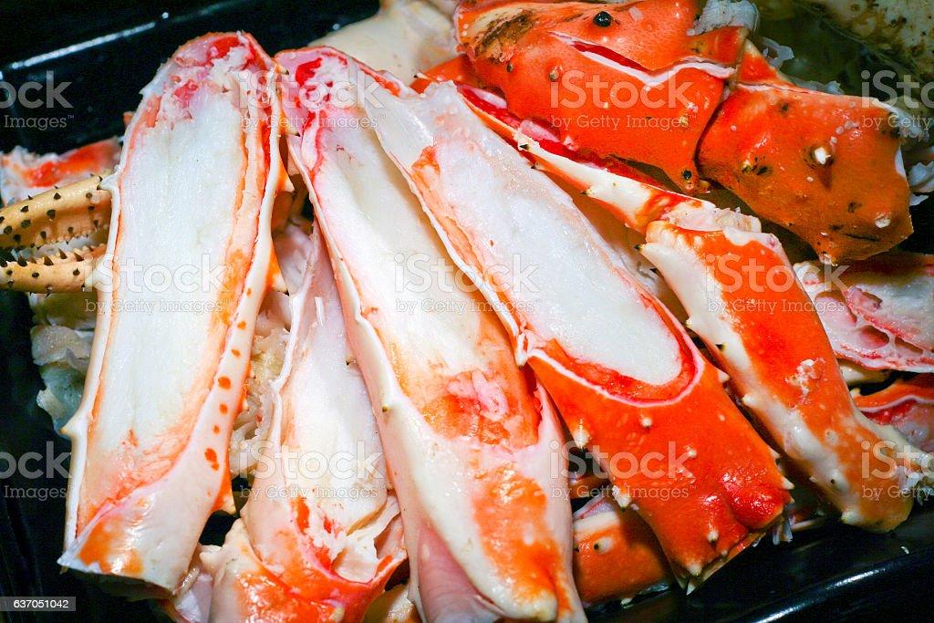 Alaskan King Crab Legs stock photo