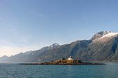 Alaskan lighthouse no longer in use but of scenic interest