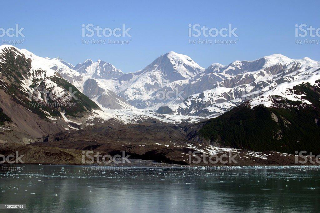 Alaskan Mountain Range royalty-free stock photo