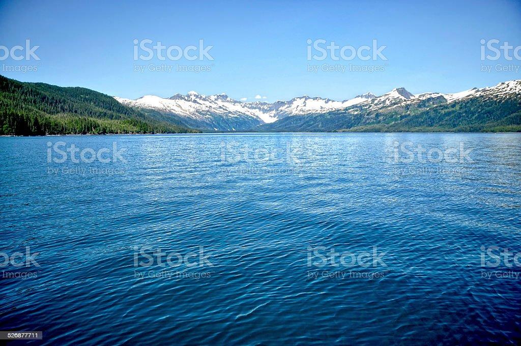 Alaskan Ocean Landscape stock photo