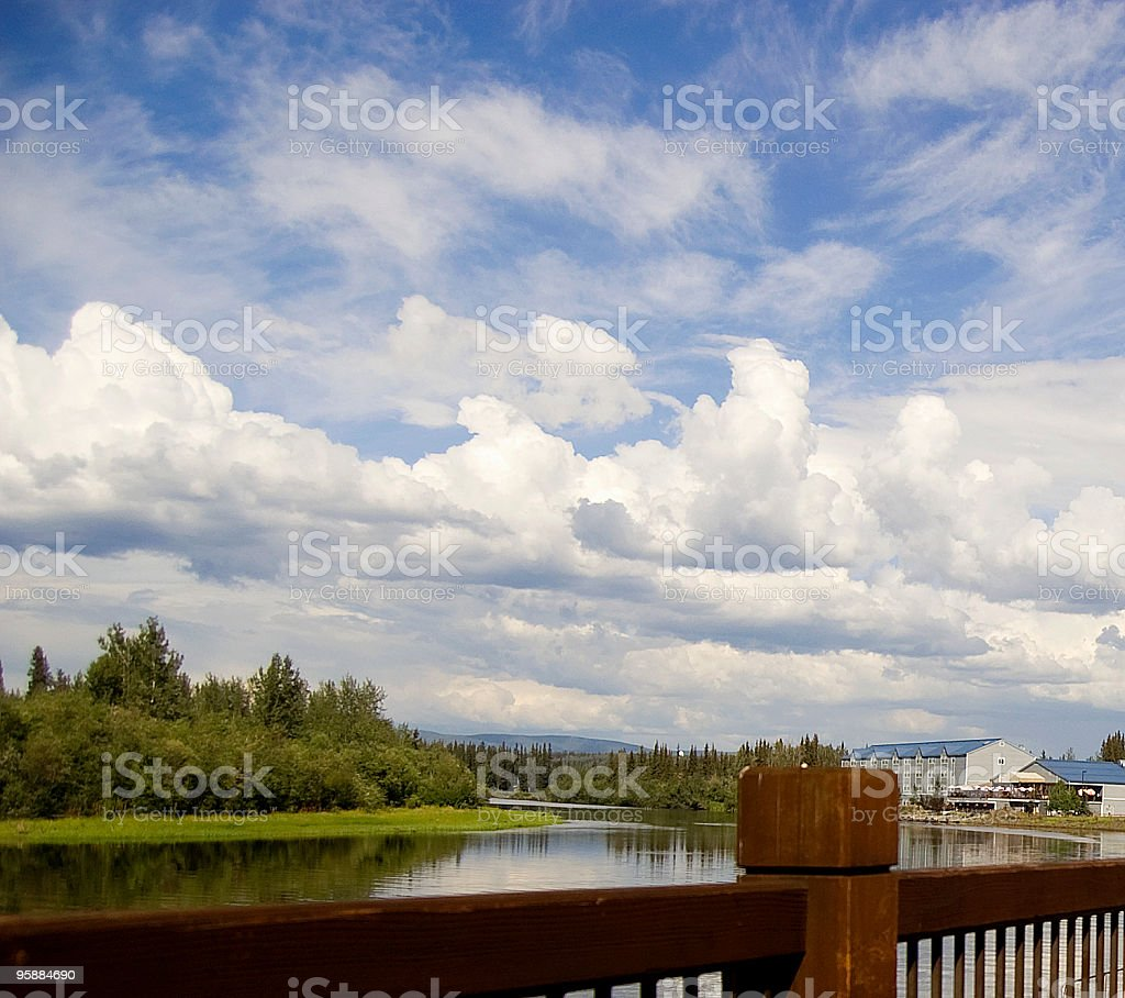 Alaskan River stock photo