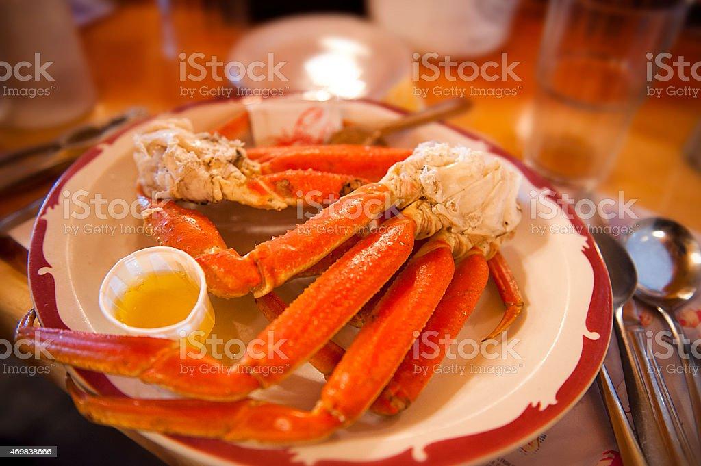 Alaskan snow crab stock photo