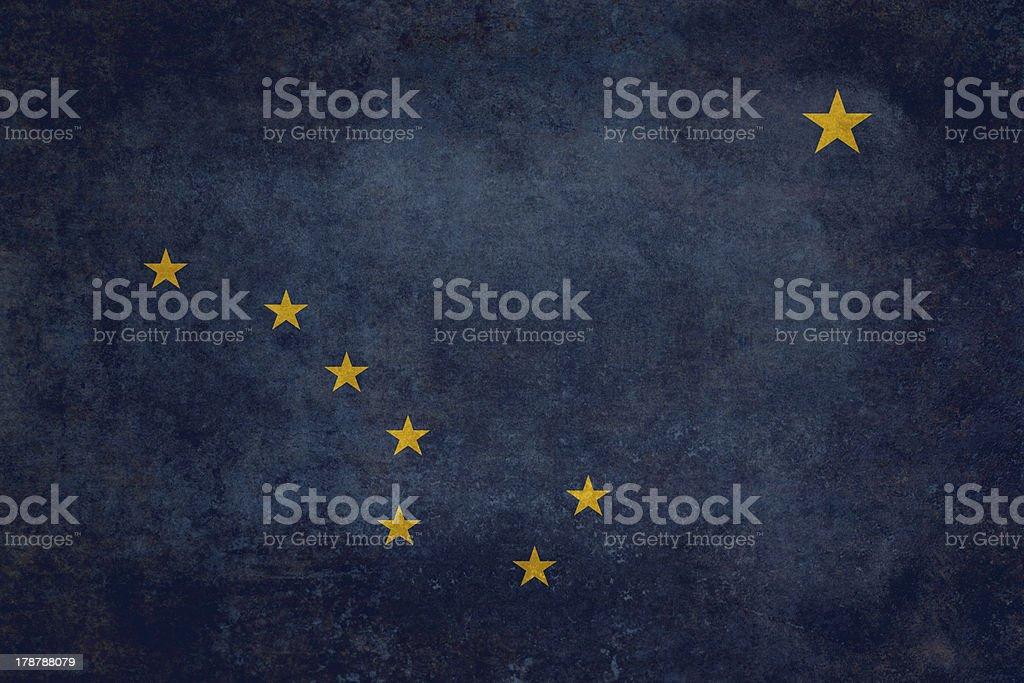 Alaskan state flag stock photo