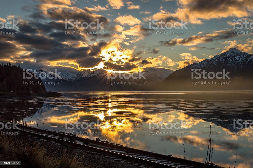 Alaskan Sunrise stock photo