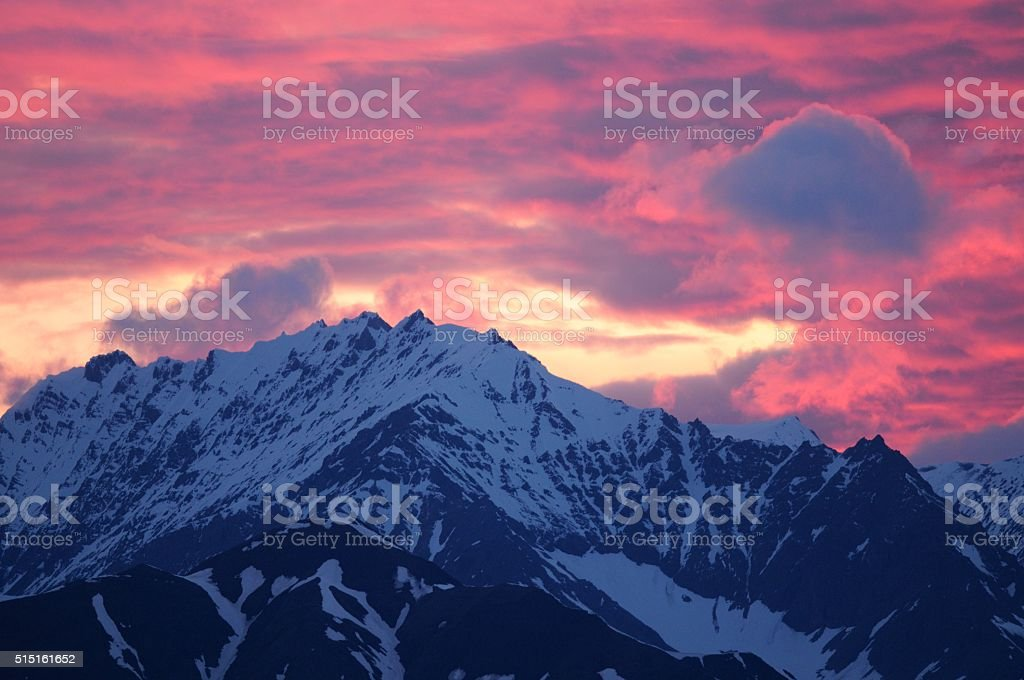 Alaskan Sunset stock photo