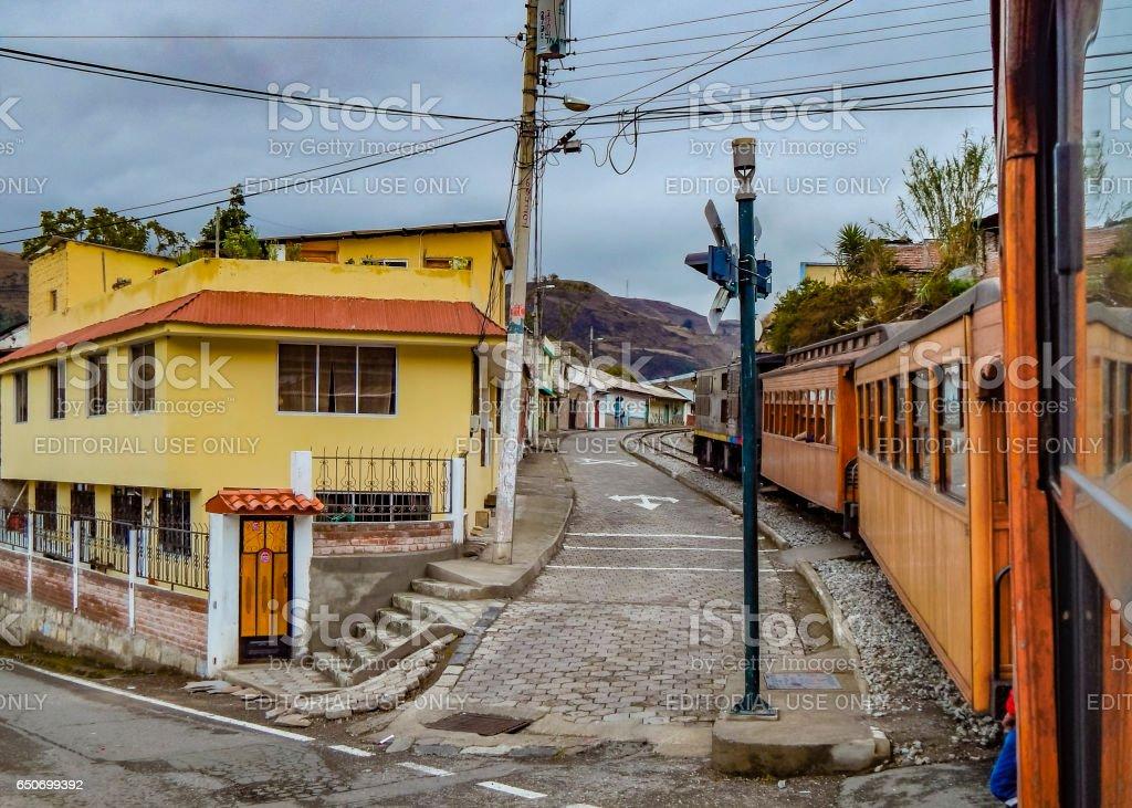 Alausi Town Ecuador stock photo