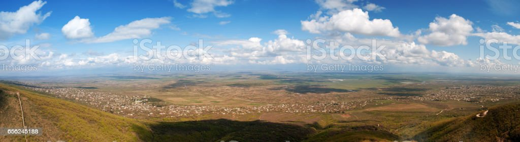 Alazani Valley panorama stock photo
