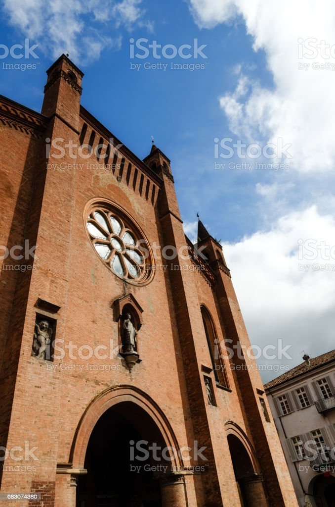 Alba (Italy), Saint Lawrence cathedral stock photo