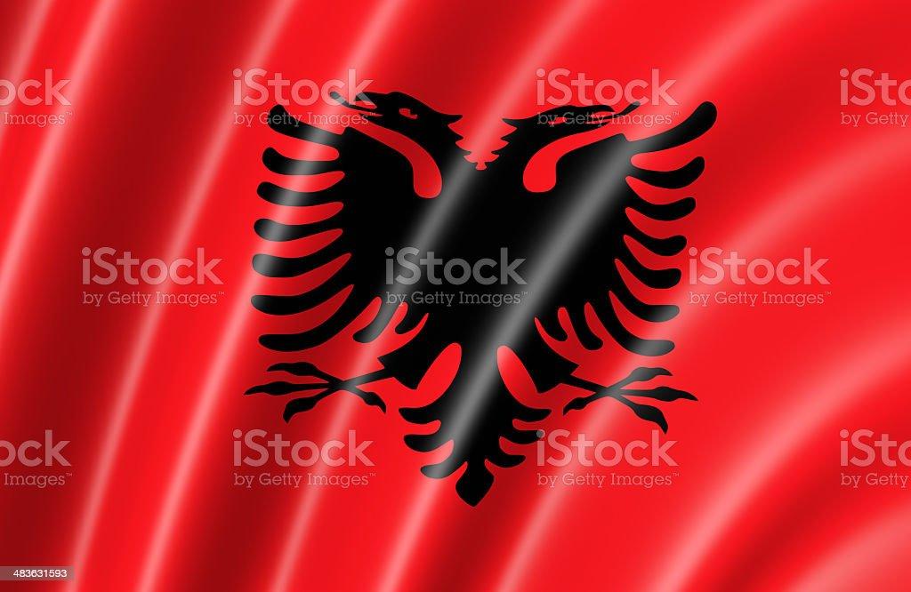 Albania Flag stock photo