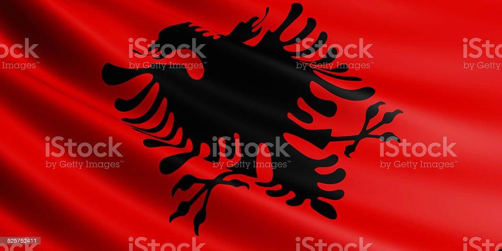 Albania flag. royalty-free stock photo