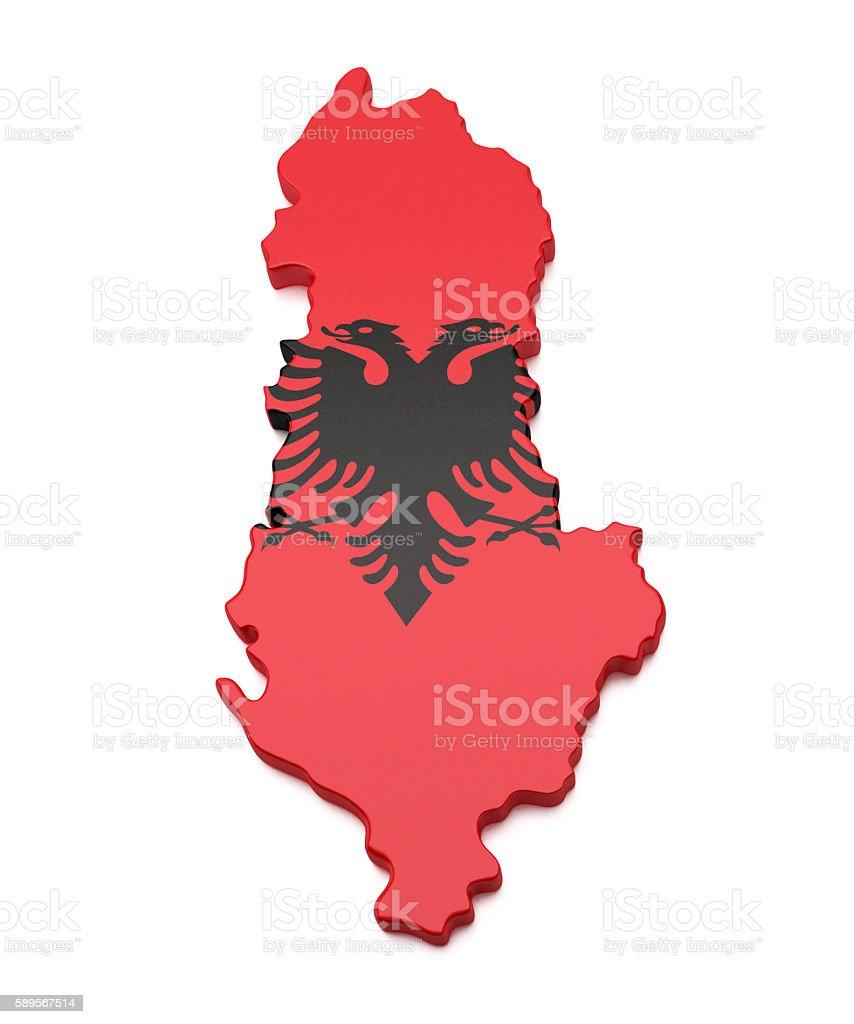 Albania Map stock photo