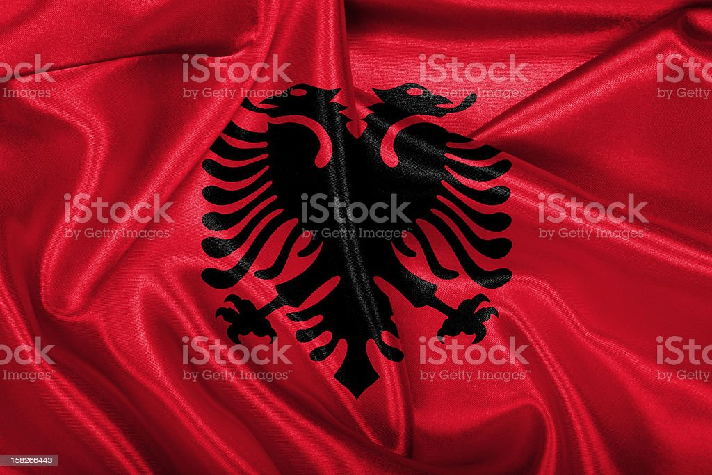 Albanian Flag royalty-free stock photo
