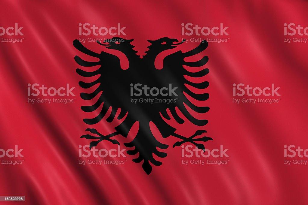 albanian flag stock photo