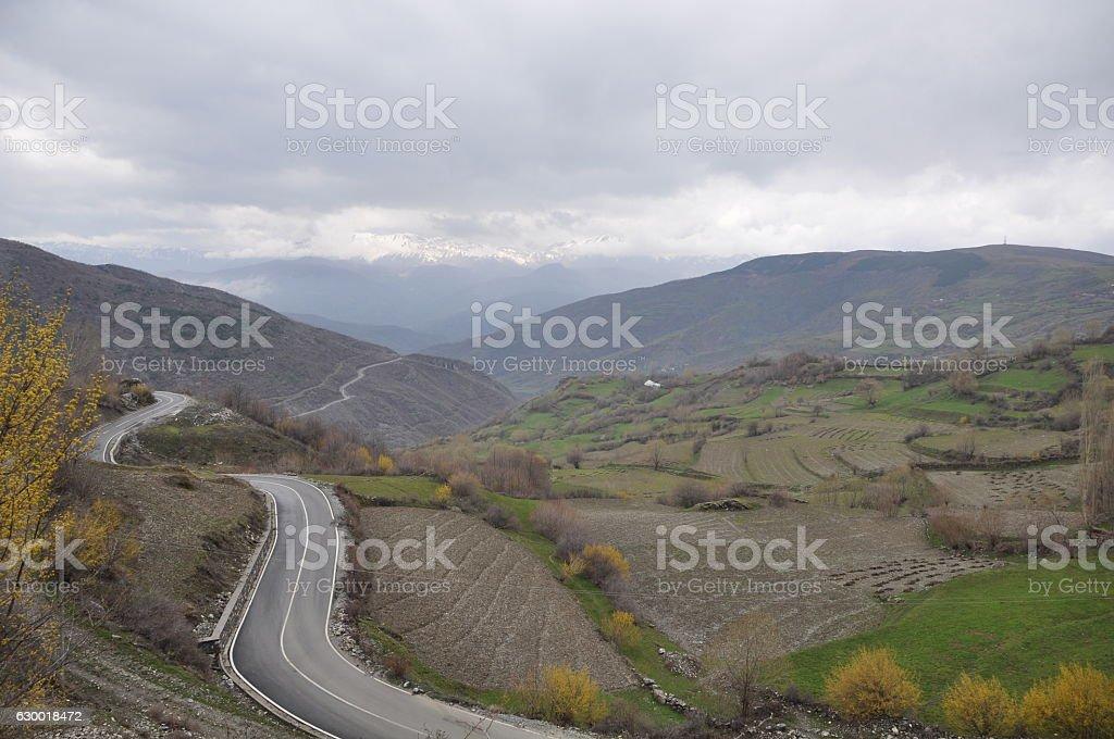 Albanian landscape stock photo