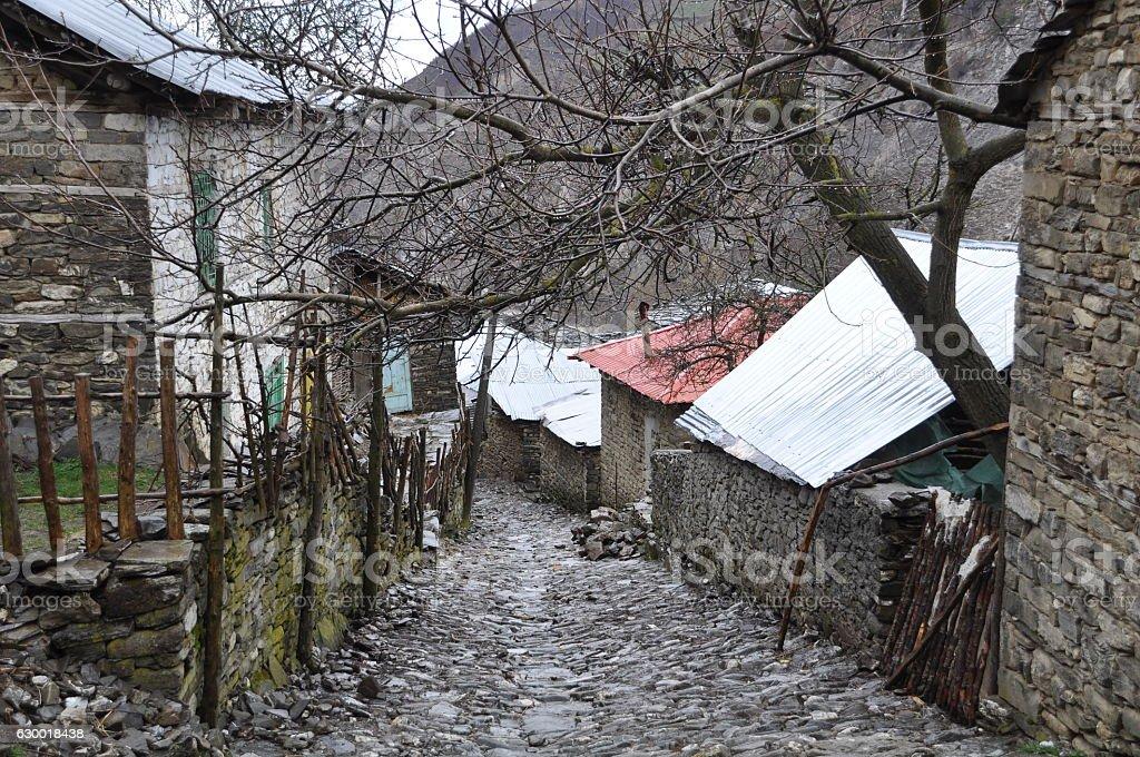 Albanian village stock photo