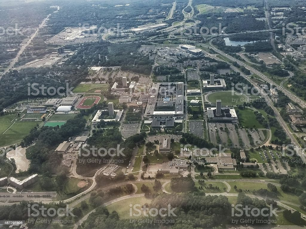 SUNY Albany College Aerial View, New York stock photo