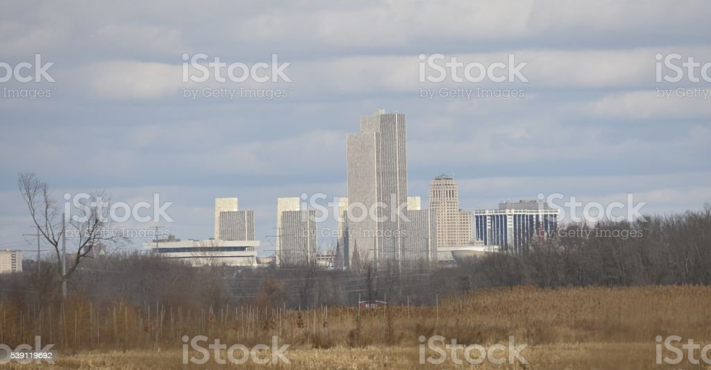 Albany ny skyline stock photo