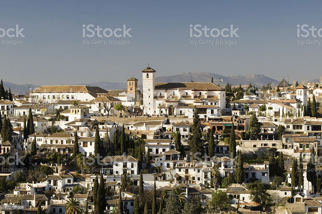 Albaycin, Granada stock photo