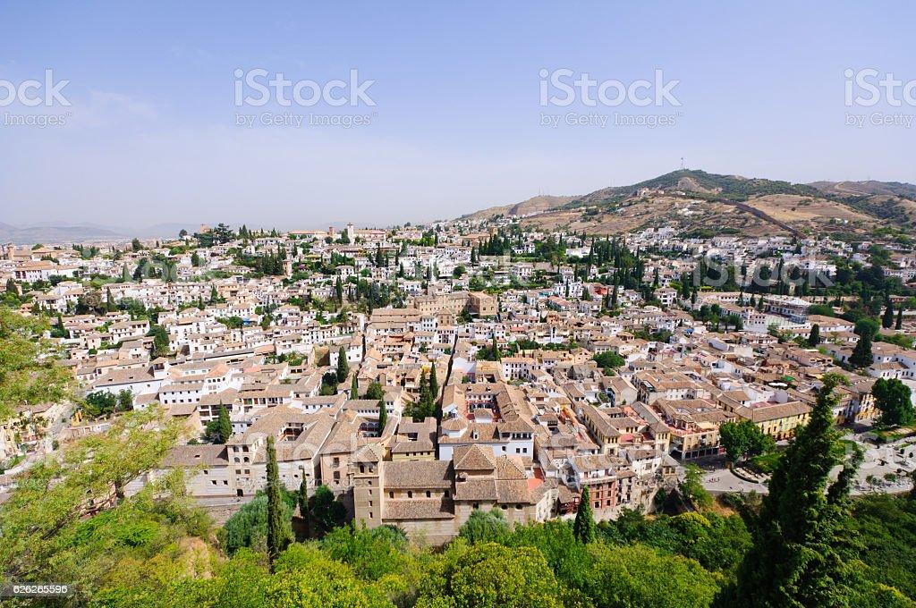 Albayzin district in Granada, Spain stock photo