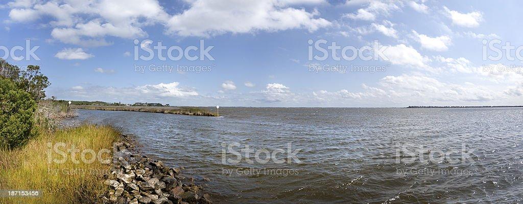 Albemarle Sound Panorama stock photo