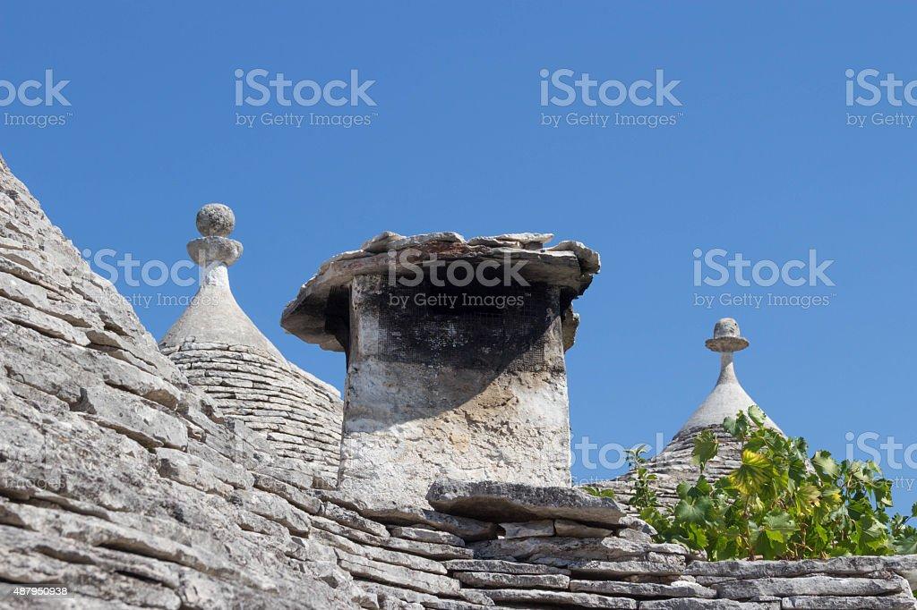 Alberobello chimney stock photo