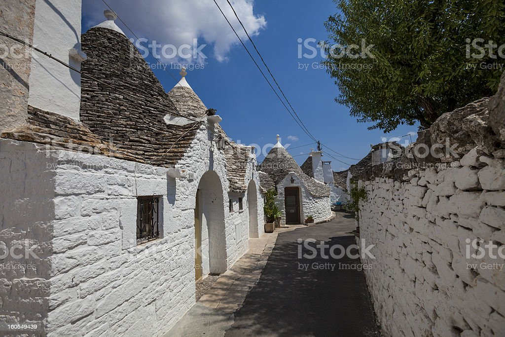 Alberobello Trulli Italy Village royalty-free stock photo