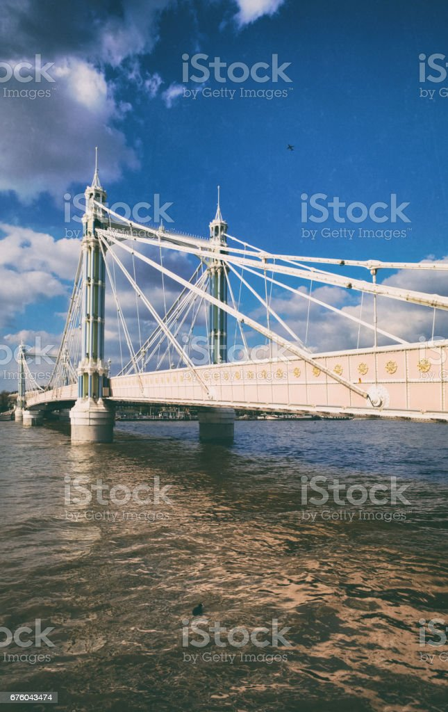 Albert Bridge And The Thames stock photo