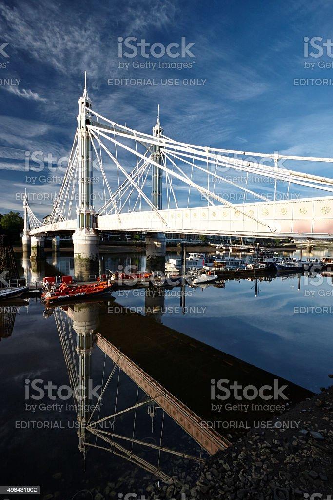 Albert Bridge At Dawn stock photo