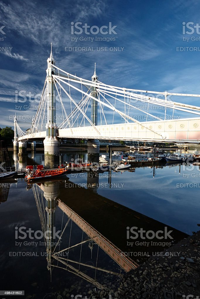 Albert Bridge At Dawn stock photo