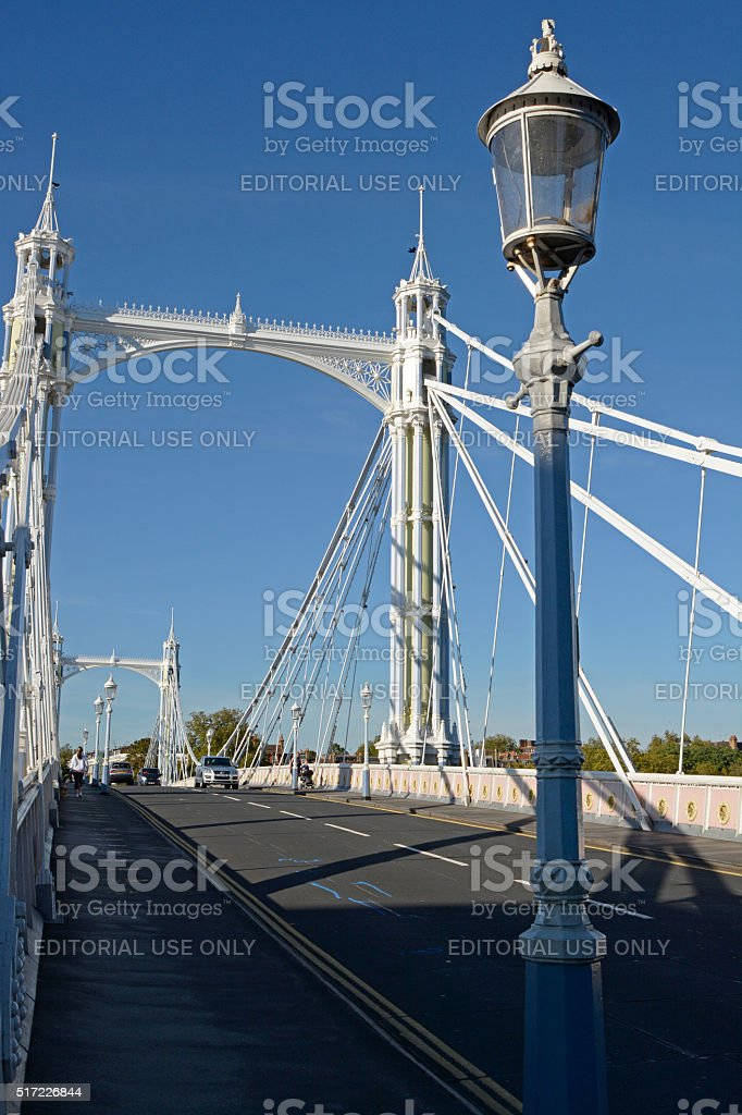 Albert Bridge, London, England stock photo